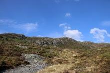 I headed straight up to the ridge
