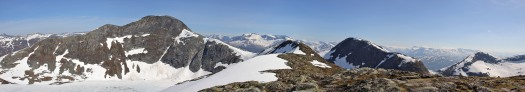 Panorama from Mannefjellet's north top