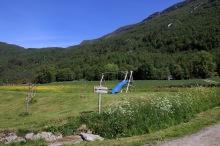 Helbostad trailhead and signpost