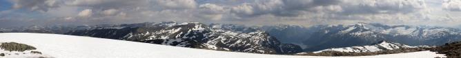 Ramusfjellet wide angle view (1/2)