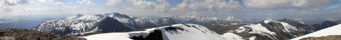 Ramusfjellet wide angle view (2/2)