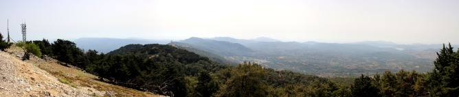 Panorama from Profitis Ilias (1/2)