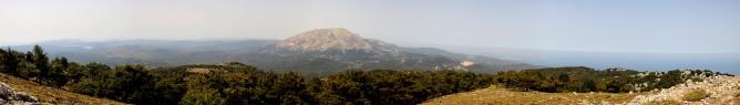 Panorama from Profitis Ilias (2/2)