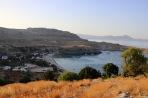 The Lindos beach