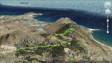 My route up Tsambika