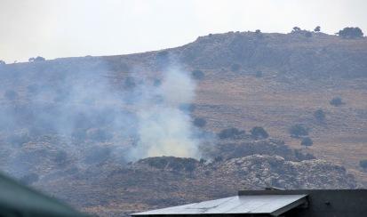 Fire below Horti