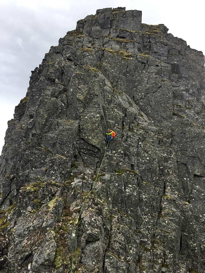 Ole, finishing his rappel