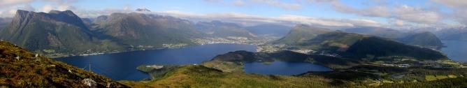 Ørsta view from Helgehornet