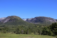 In Hjortedalen, view towards the mountain