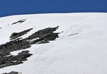 My tracks down from point 1575m