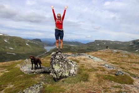 On top of Kvannfjellet