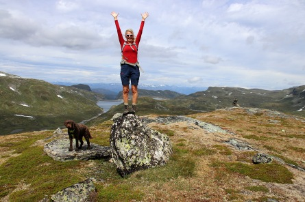 On top of Kvannfjellet