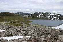Leaving lake Ytredalsvatnet behind