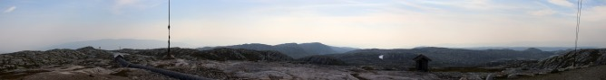 Hazy summit view