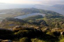 View down the north ridge