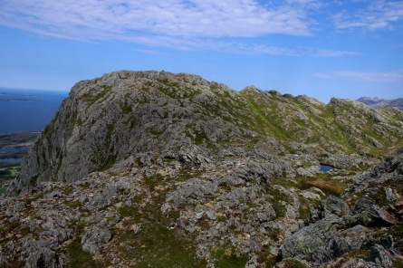 Summit comes into view