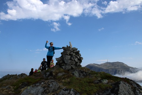 Mom on top of Søla