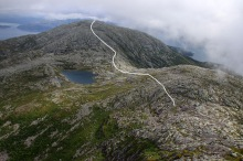 The route to Hildringsfjellet