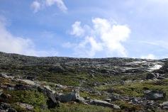 Descending from Hildringsfjellet