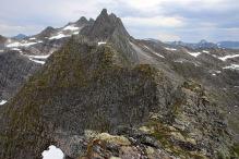 Checking out the ridge towards Blåtindane