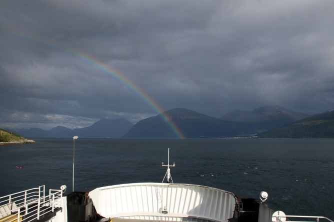 Rainbow, seen from the ferry home