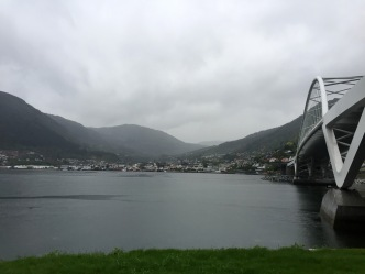 Having crossed the bridge