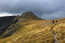 Heading down the ridge