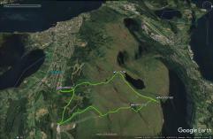 My route across Melshornet