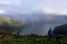 Gaupnefjorden below