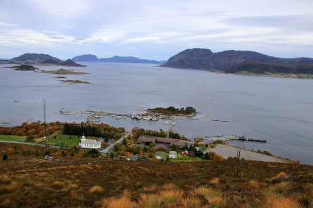 View down to the harbor