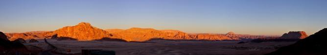 Entering the desert
