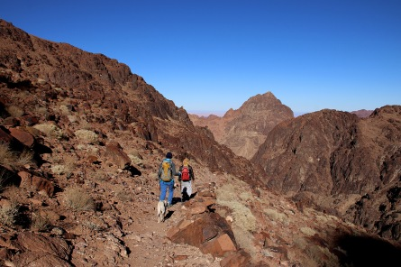 Descent. Mt. Sinai in the distance