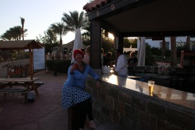At the beach bar