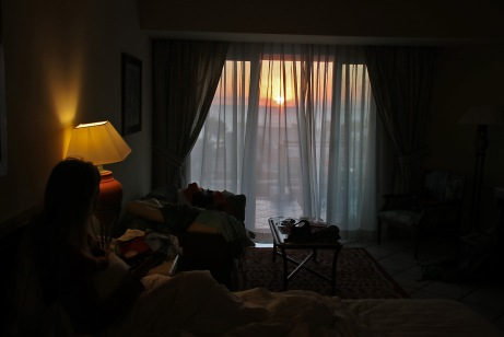 Sunrise, as seen from bed