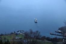 The ferry is leaving Årvika