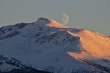 The moon above Veirahaldet (II)