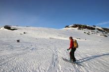 Onto the summit ridge