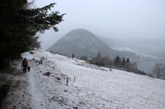 White landscape when we returned