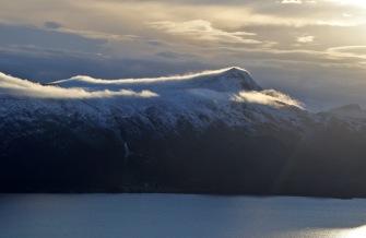Nystøylhornet with fog