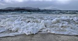 Osnessanden: Rugged sea