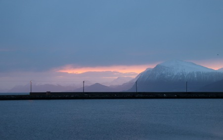 Hareid ferry harbor, early morning. There is hope...