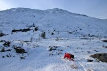 After descending Rjåhornet