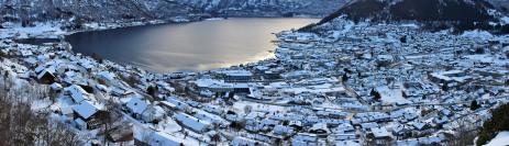 Sogndal seen from Kongaberget
