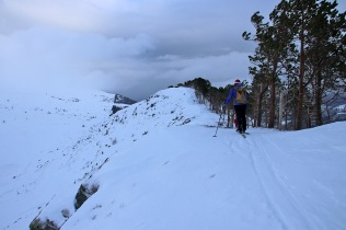 Approaching the top of Nevstadnipa