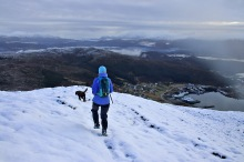 Down the south ridge