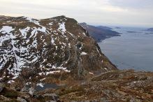 I found my descent route from Bjørlykkjehornet