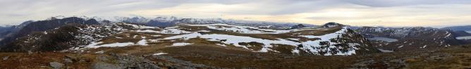 Bjørlykkjehornet panorama (2/2)