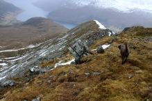 Down the north ridge