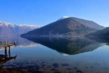 By Lustrafjorden, later in the afternoon