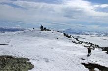Arriving on top of Kvamsfjellet